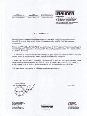 Bauder Germania - filiala Romania